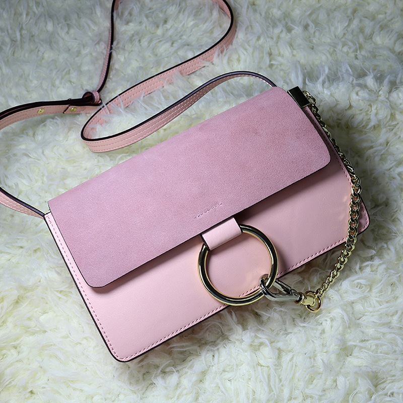 2017 new bag leather handbag chain ring small flap branded women messenger bags Designer Shoulder Crossbody Bolsas Totes lacattura small bag women messenger bags split leather handbag lady tassels chain shoulder bag crossbody for girls summer colors