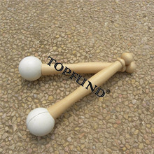 TOPFUND Two Rubber Mallets for Playing Crystal Singing Bowls