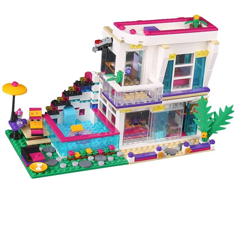 Lepin 01046 Bela Friends Series Livi s Pop Star House Building Blocks Educational Figures font b