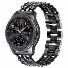 TOROTOP 2017 Wristband Gear S3 Classic Frontier Straps 22mm Chain Stainless Steel For Samsung Gear S3 Frontier S3 CLASSIC BANDS