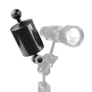 Image 2 - ألياف الكربون تعويم الطفو الذراع المائية المزدوج الكرة العائمة الذراع الغوص كاميرا صينية ل Gopro /YI /EKEN ل DJI ل OSMO العمل
