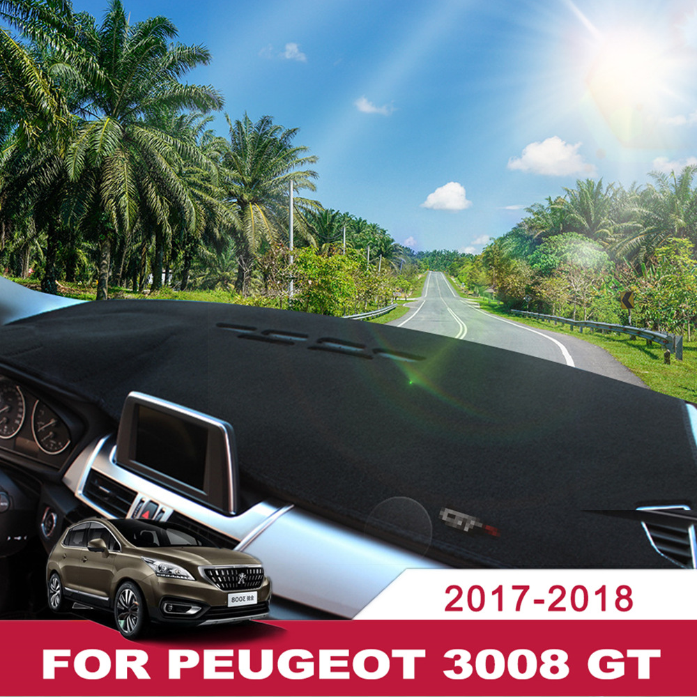 Car Dashboard Covers Mat Avoid Light Pad Instrument Platform Desk Cushion Carpets Lhd For Peugeot 3008 Gt 2017 2018 Accessories Automobiles & Motorcycles