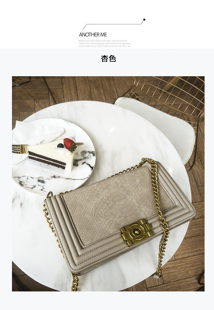 New Female Bag Simple Fashion Crocodile Pattern Chain Small Square Bag Shoulder Messenger Bag bag female 2018 new fashion sequins convenient bread bag chain small square bag shoulder slung dinner bag