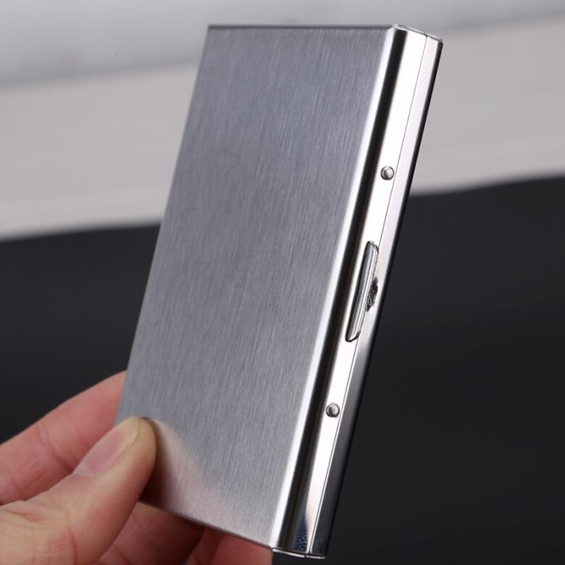 ᗑRfid Credit Card Holder Stainless Steel Business Card Case Metal ...