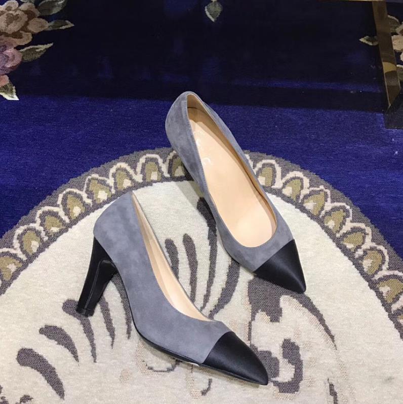 Весна и осень Новые Sharp Spell туфли на высоком каблуке обувь
