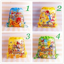 New Carton non-woven fabrics of Pokemon, clever pikachu drawstring backpack, event & party gift bag, shopping bag, storage bag