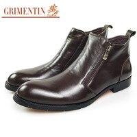 Grimentin роскошные сапоги мужские натуральная кожа официальная обувь в деловом стиле