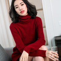 Women Pullovers 100 Cashmere And Wool Knitting Pullovers 2018 New Fashion Turtleneck Cashmere Knitwear Girls Standard