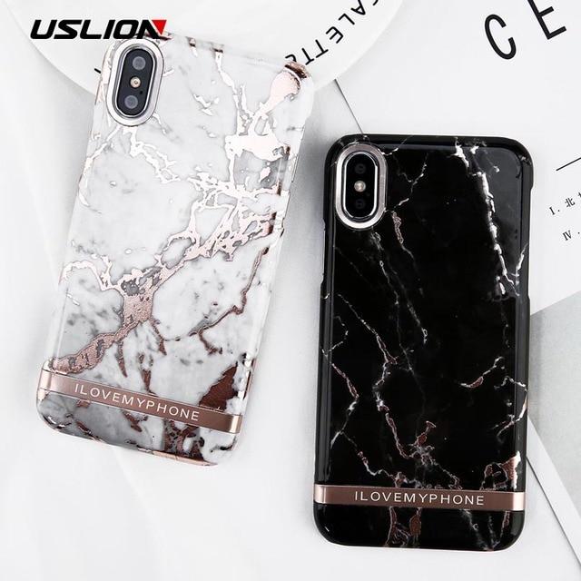 iphone x coque marbre noir