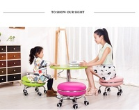 playing game kid stool homework chair free shipping study stool green pink color
