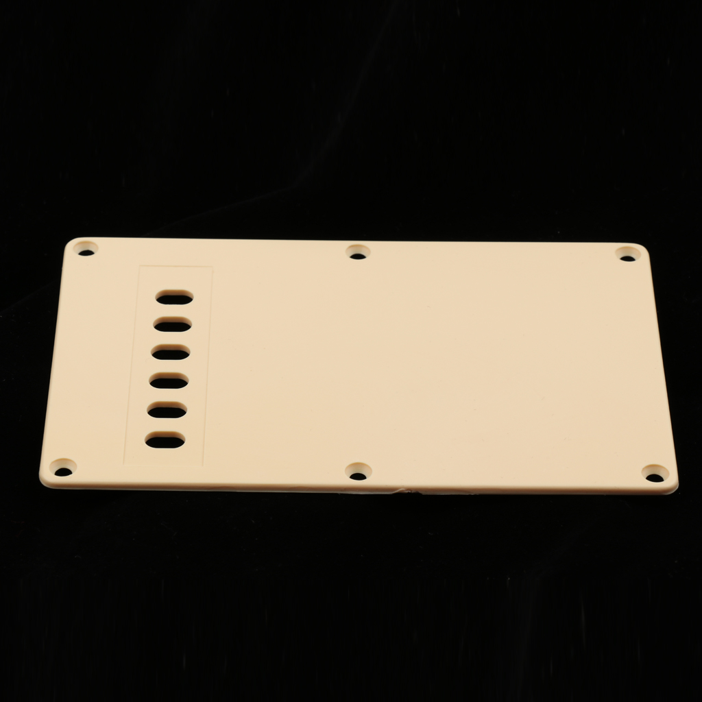 6 Hole Electric Guitar Tremolo Cavity Cover Backplate for Fender Stratocaster Strat Standard Guitar Replacement Accessories