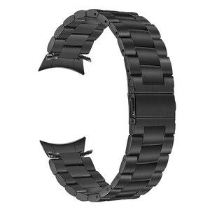 Image 2 - Zero Gap correa de reloj de acero inoxidable curvado + removedor de eslabones para Samsung Galaxy Watch 42mm SM R810/SM R815, pulsera de correa de muñeca