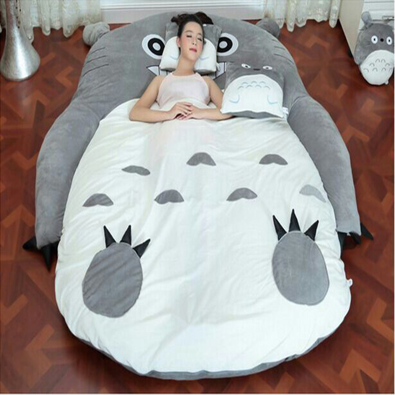 1 7 2 M Totoro Plush Double Beds Kawaii Giant Stuffed Animal Bed