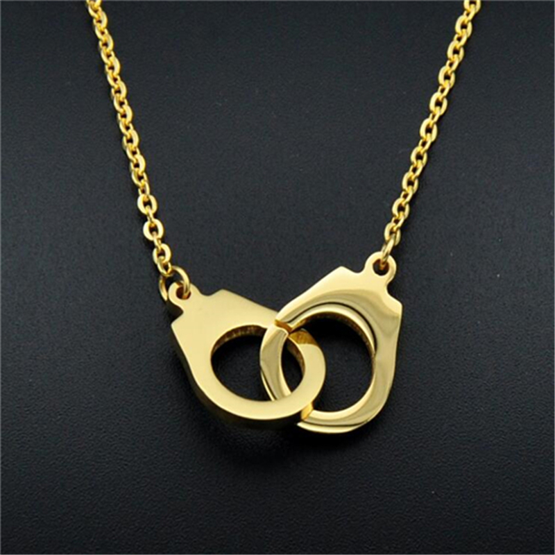 Handcuff Necklace Gold: Necklace For Young Girl Titanium Stainless Handcuff