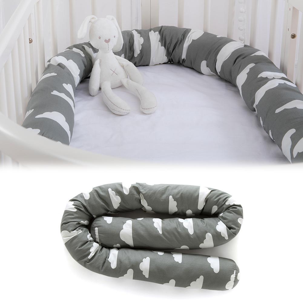 Cotton Crib Bumper Creative Clouds Plush Pillows Crib Bumper Pads Baby Crib Liner Print Pillows Bed Children Cradle Newborn