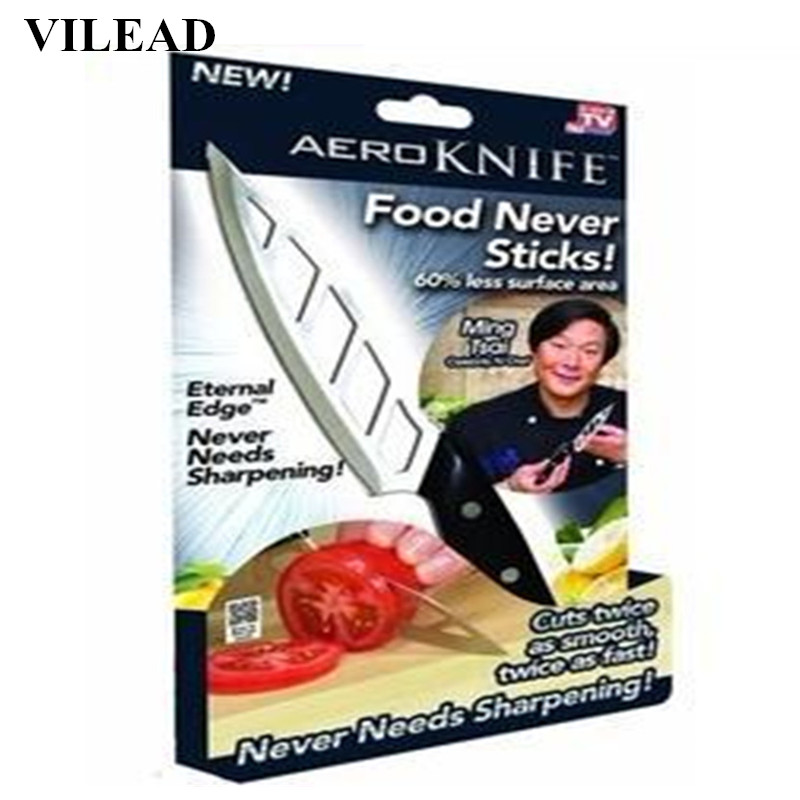 VILEAD Stainless Steel Chef Knife Aero Air Knife Kitchen Helper Food Fruit Knife Vegetable Slicing Paring Kitchen Cooking Tools
