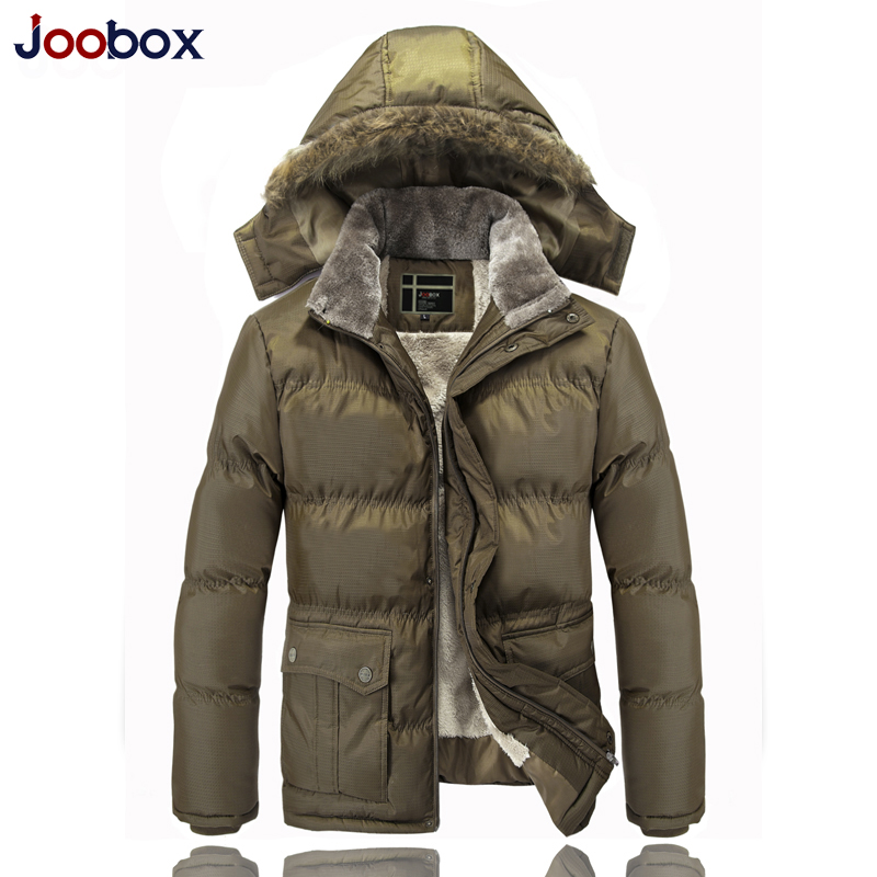 ФОТО High Quality Brand Casual Cotton Lined Jacket Thickening New Fashion Winter Jacket Men Fleece Warm Coat Parkas