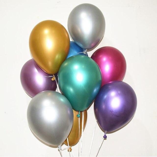 10pcs 12inch latex Metallic Balloons Wedding Happy