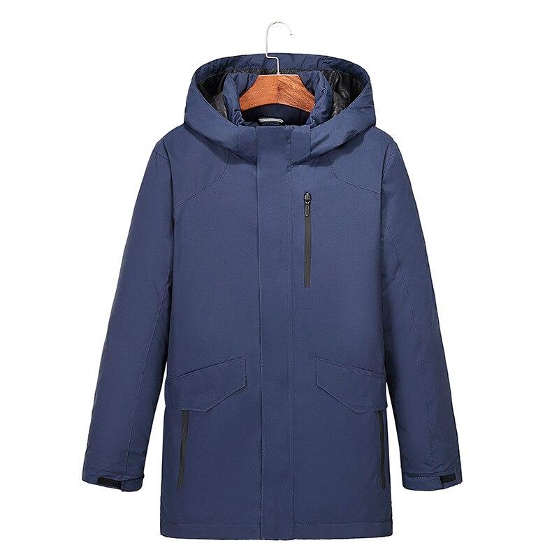 YuWaiJiaRen Thick Winter   Down   Jackets Men Warm New Fashion Brand Clothing Top Quality Long Male 90% White Duck   Down     Coats
