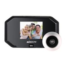KKmoon 3-дюймовый ЖК-дисплей цифровой дверной звонок 1.0MP 100 градусов Широкий формат HD 720P глазок дверной звонок видео-телефон двери
