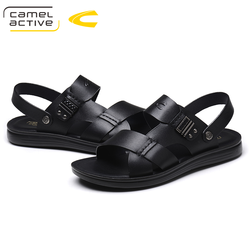 Camel Active New Men Sandals Slippers Leather Male Summer Shoes 2018 Outdoor Casual Leather Sandals Hombre Men Shoes
