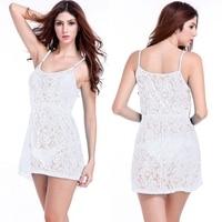 2015 Braces Skirt Loose Pattern Adjustable Shoulder Big Women Plus Size White Lace Dress S M