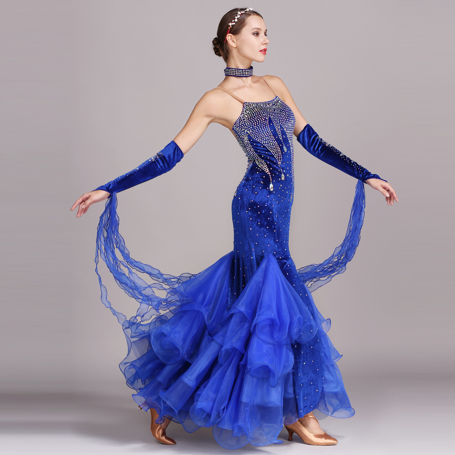 S7016 Modern Dance Costume Women Ladies Adults Waltzing Tango Dancing Dress Ballroom Costume Evening Party DressS7016 Modern Dance Costume Women Ladies Adults Waltzing Tango Dancing Dress Ballroom Costume Evening Party Dress