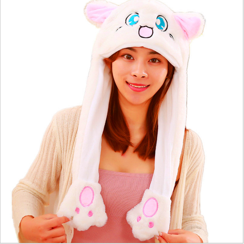 Elephant Deer Cat Hamster Koala Purple Unicorn White Cat Animal Plush Dynamic Hat Children's Winter Warm Cap