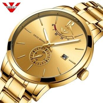 NIBOSI Quartz Watch Men Gold Sports Watches Men's Military Luxury Top Brand Waterproof Wrist Watch Clock Relogio Masculino Reloj