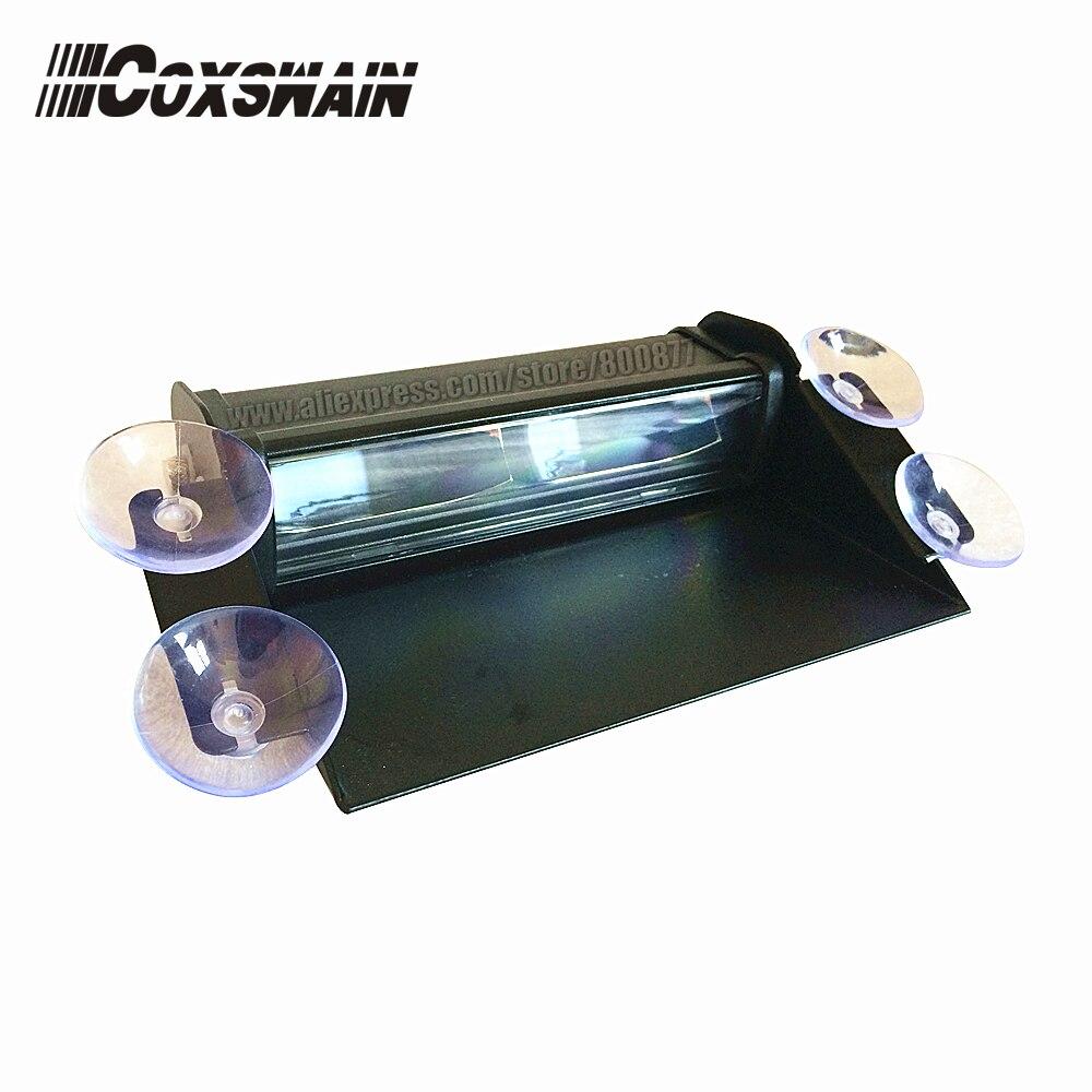 6E1B High brightness LED windshield warning light for car LED visor light police alarm lamp 3W