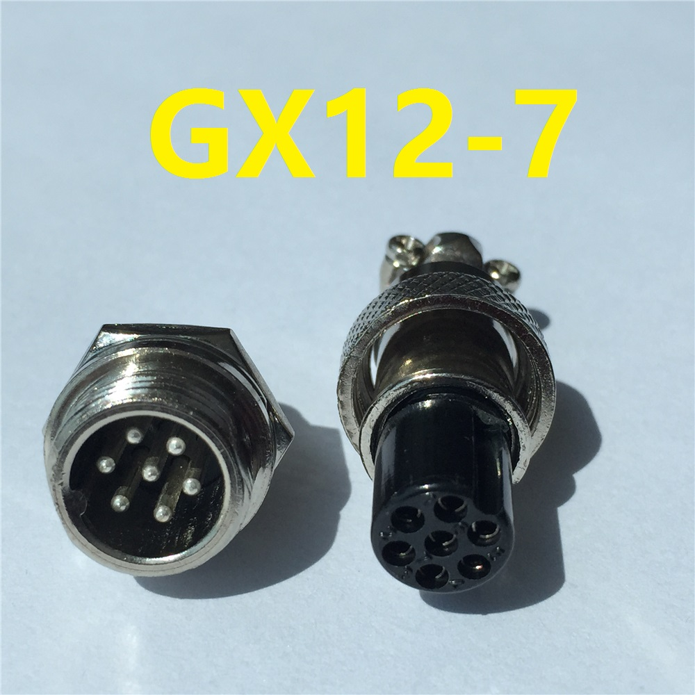 1pcs GX12 7 Pin Male & Female 12mm Wire Panel Connector Aviation Plug L93 GX12 Circular Connector Socket Plug Free Shipping gx12 12mm aviation connector 2pin3pin4pin5pin6pin7pin quick connector 5a 125v male socket
