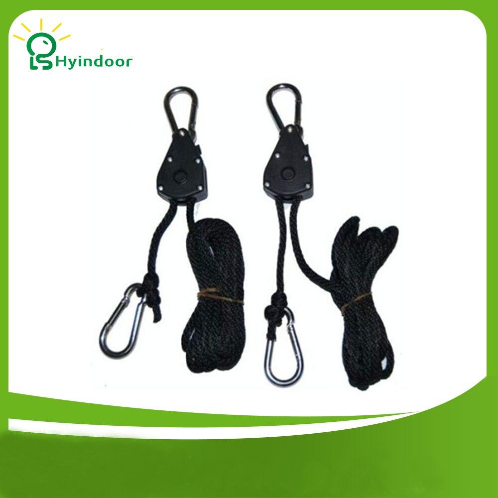 """Penghantaran 200pack 1/8 """"Rope Ratchet Grow Light Reflector Hangers"""