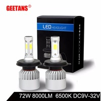 GEETANS H7 H4 H11 H1 H13 H3 9004 9005 9006 9007 HB1 HB4 COB LED Car