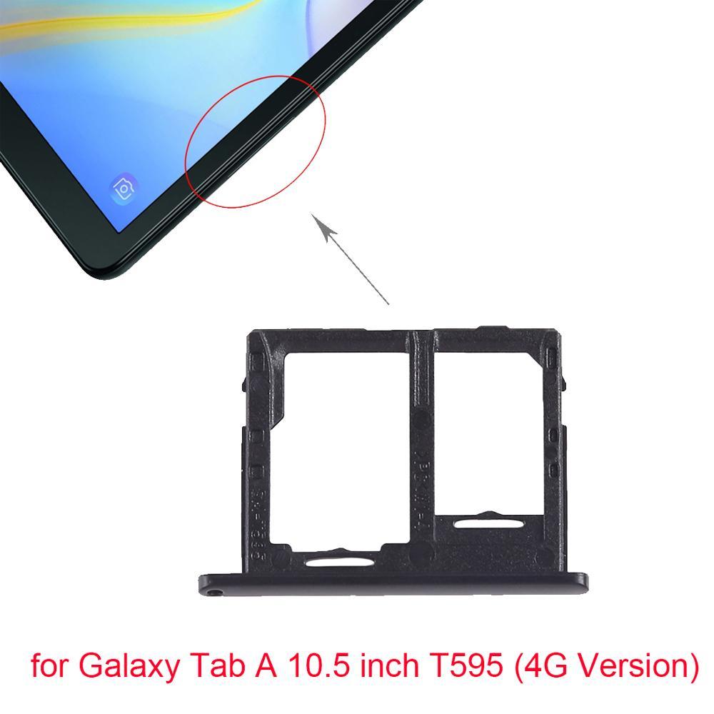 New For Galaxy Tab A 10.5 Inch T595 SIM Card Tray + Micro SD Card Tray For Galaxy Tab A 10.5 Inch T595 (4G Version)