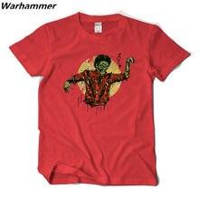 037028b0aa Warhmamer camisa Nova T Homens Chegada Michael Jackson Suspense Tee camisa  Homme Rocha Impressão de Manga Curta Oneck Algodão Qu.