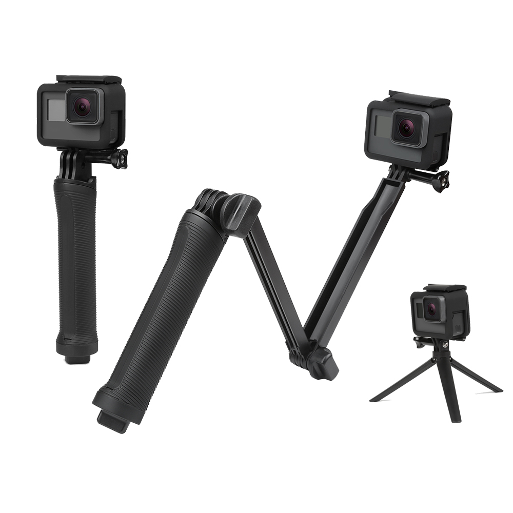 SHOOT for Go Pro Waterproof 3 Way Grip Arm Tripod Monopod for For GoPro Hero 6 5 4 Session SJCAM SJ5000 SJ6 Yi 4K Eken h9 Camera