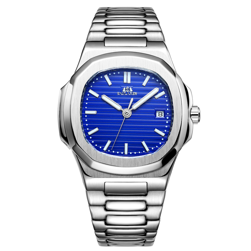 HTB1v.cpb6gy uJjSZTEq6AYkFXaQ Men Automatic Self Wind Mechanical Luminous Stainless Steel Blue Grey Coffe Black White Dial Simple Business Watch