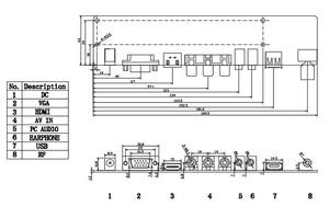Image 2 - V56 LCD TV monitor di Bordo di Driver del Controller kit completo FAI DA TE per pin 2ch 8bit 4 pz CCFL pannello LVDS LCD accessori 756284