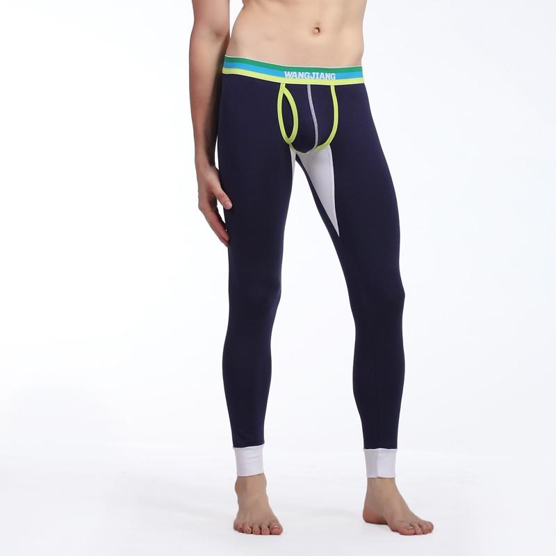 Winter Autumn Mens Cotton Thermal Underwear Striped Long