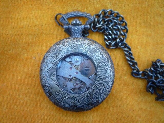 Коллекция красивых Механические Карманные часы/часы, может работать, замечательная резьба, 18 века