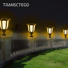 LED Latarka z zasilaniem słonecznym czujnik światła płomień Post kinkiet wodoodporna latarnia zewnętrzna migotanie słonecznego lampa trawnikowa do światło ogrodowe tanie tanio TRANSCTEGO Bateria litowa 3 2 V CCC CE RoHS Żarówki led Deco IP55 Brak w ciągu 1 roku Solar Torch Light Flame Light