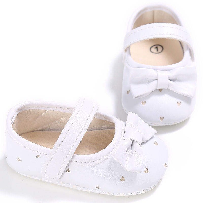 Baby Girls Princess Shoes PU Leather Newborn Big Bow Prewalkers Soft Bottom Shoes Crib Ballet Dress Shoes