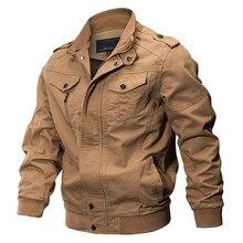 Военная куртка для мужчин весна хлопок пилот пальто армия бомбер куртки ВВС карго полета Jaqueta плюс размеры 5XL 6XL