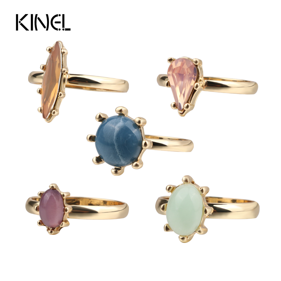 Kinel Fashion Gold Color Vintage Midi Rings For Women Punk Knuckle Joint Ring 5pcs/Sets  ...