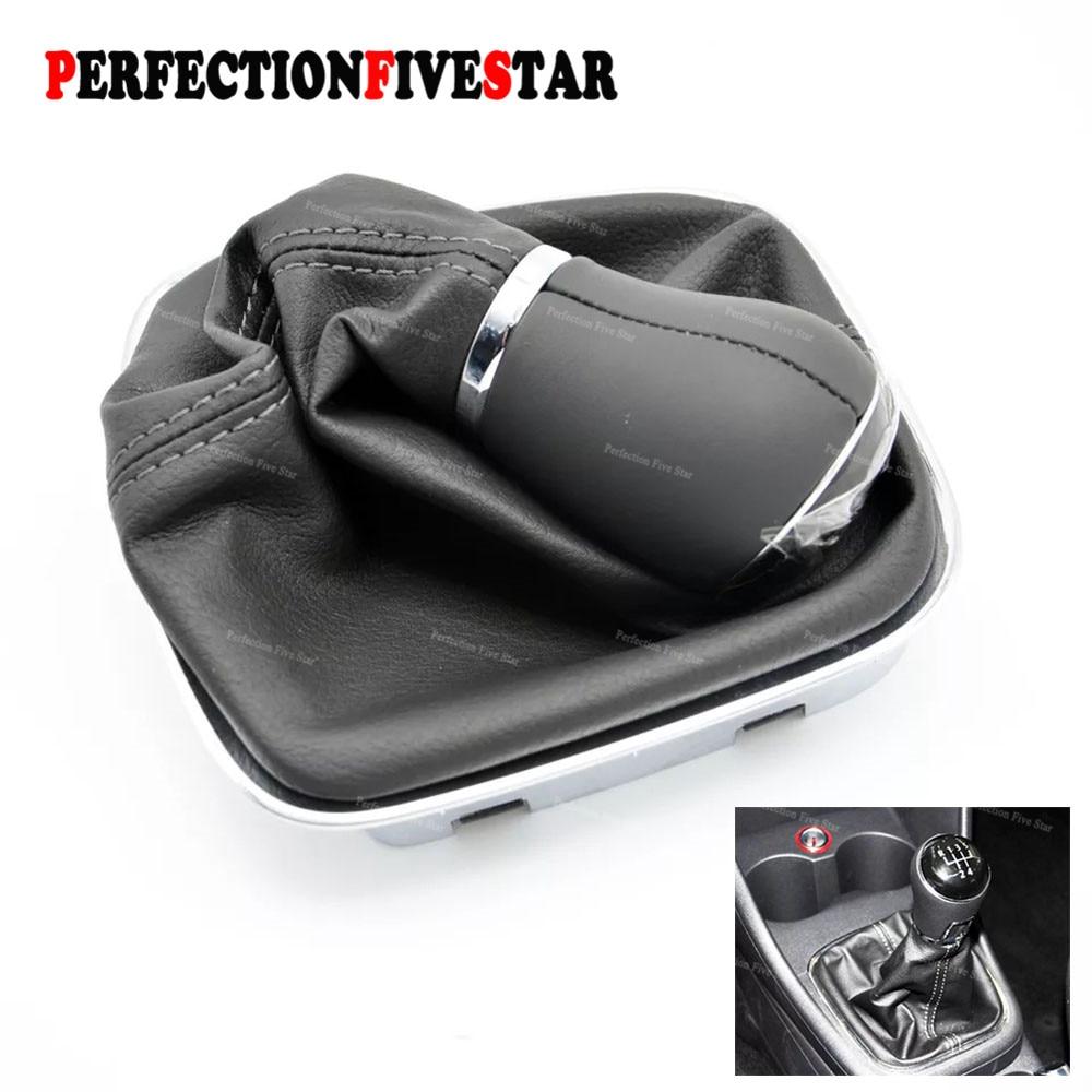 6CD711113B  5 Speed Gear Shift Knob handle with PU Leather for the Gear Shift Knob Cover For VW POLO 2011 2012 2013 2014 2017 gear shift