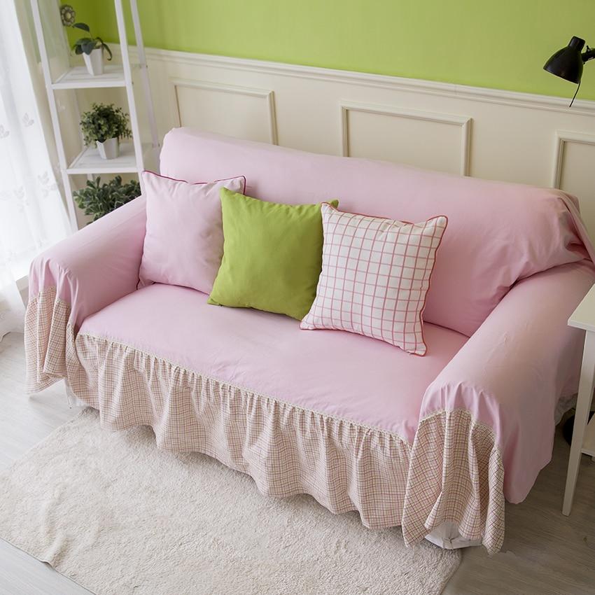 Pink Sofa Cover: Sweet Korea Sofa Cover Slip Resistent Sofa Cover Pink Sofa