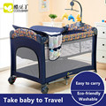 2017 múltiples funcation dormir cama cuna cuna parque infantil bebé guardia enviar mesa para cambiar pañales y juguetes de bebé portátil de viaje camas