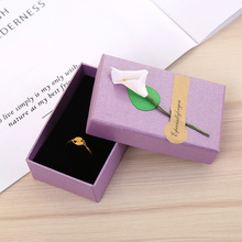 5 Pcs/Lot 6 Color Kraft Paper Jewelry Boxes With Sponge Necklace Earring Ring Pendant Box Lily Flower