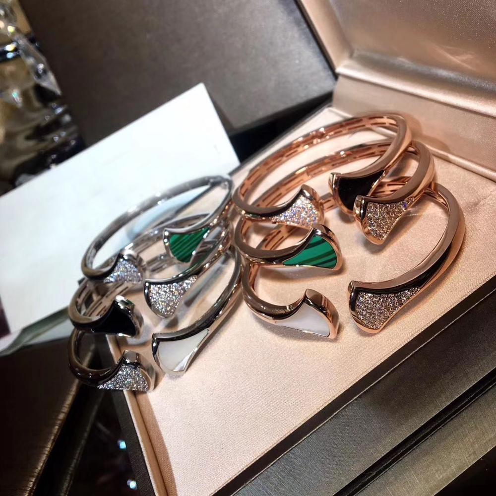 النقي 925 فضة أساور زركونيا هندسية الكفة الإسورة أساور العصرية الحجر الطبيعي مجوهرات للنساء-في أساور من الإكسسوارات والجواهر على  مجموعة 1