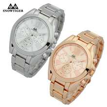 Big oversize metal wristwatches hot selling quartz watch casual Geneva watches for men or women